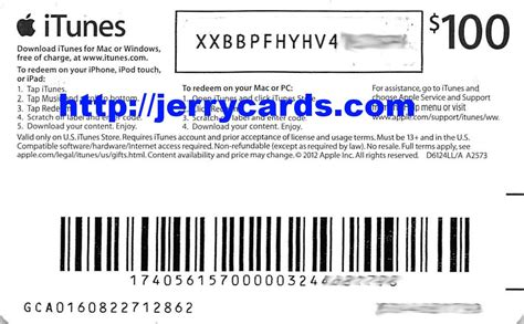 Itune Gift Card Codes - sle itunes gift card code images