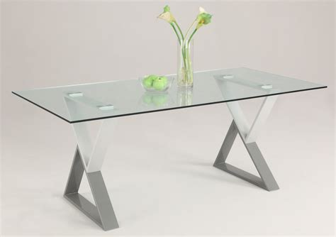 Glass Dining Table Base Contemporary Rectangular Glass Dining Table Top With Unique X Legs Detroit Michigan Chwhit
