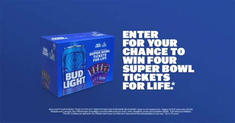 Bud Light Sweepstakes - bud light super bowl tickets for life contest winzily