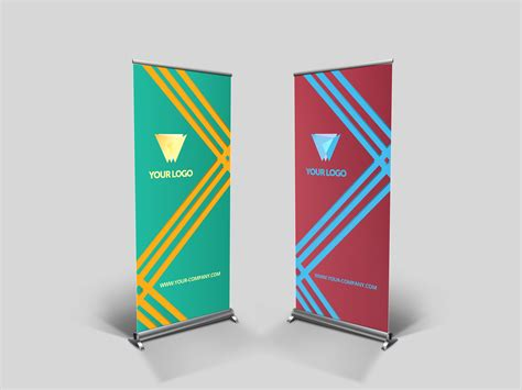 templates for roll up banners business roll up banner v003 presentation templates on