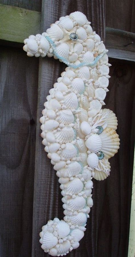 How To Make A Seahorse Out Of A Paper Plate - seahorse made out of sea shells diy projects