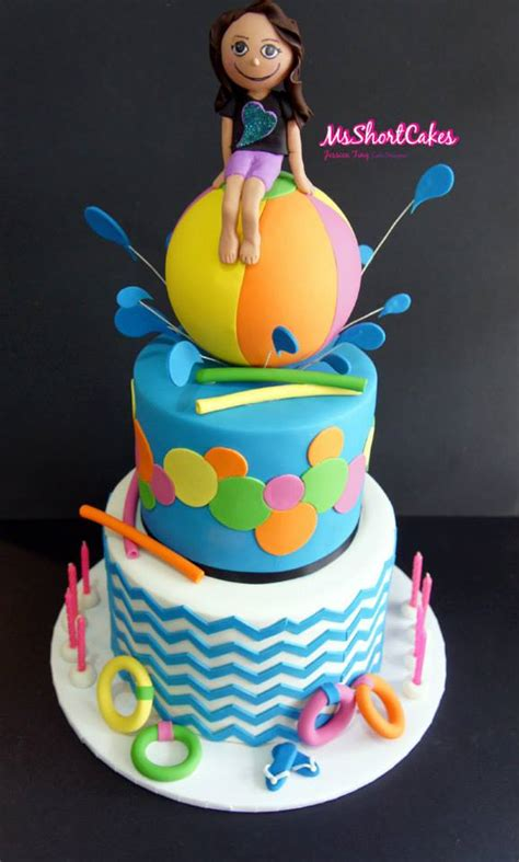 Colorful Teenage Bedroom Ideas splish splash cakes and cupcakes fit for a pool party bash