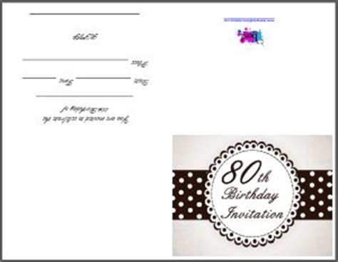 80th birthday invitation templates free printable 80th birthday invitation
