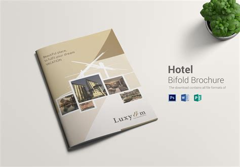 Hotel Bi Fold Brochure Design Template In Word Psd Publisher Bi Fold Brochure Template Word