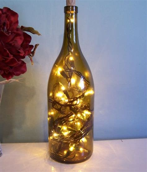diy lights in a wine bottle holiday decoration five more