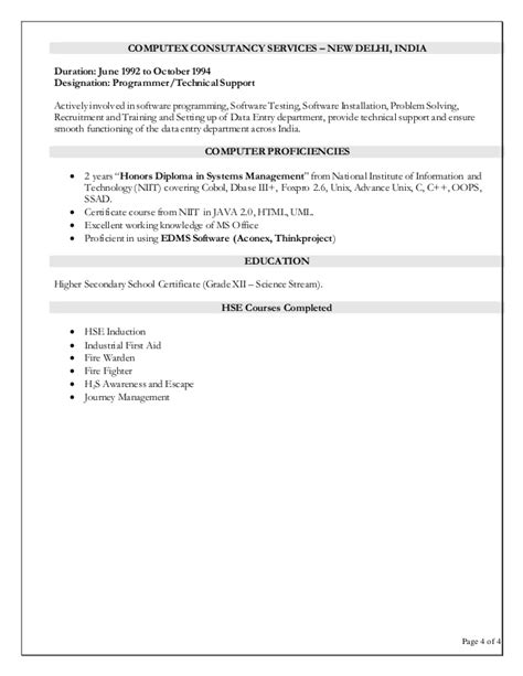 document controller resume sle anil parmar resume document controller