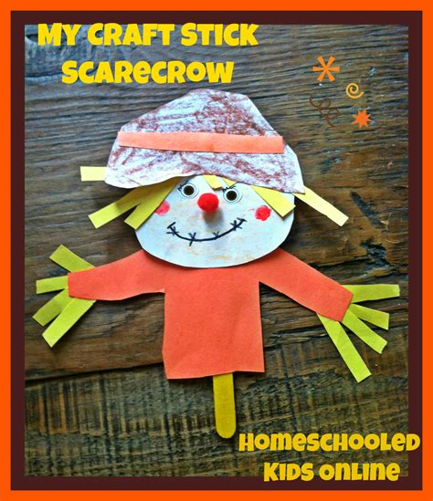 scarecrow craft for magazine for homeschooled 187 fall crafts for