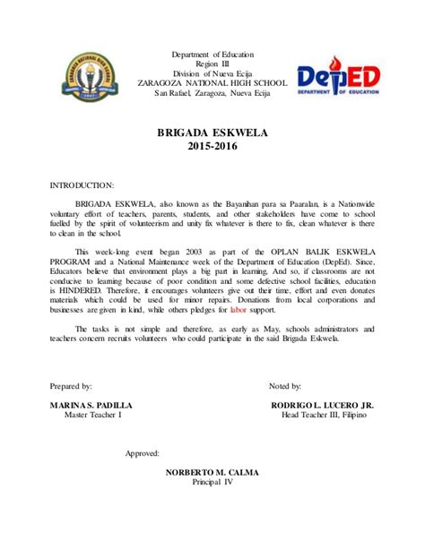Request Letter Deped Maam Padilla