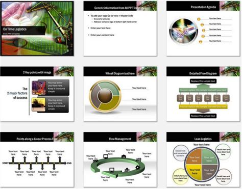 Powerpoint On Time Logistics Template Logistics Ppt Template Free