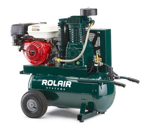portable gas powered air compressor portable wheelbarrow gas compressor rolair systems