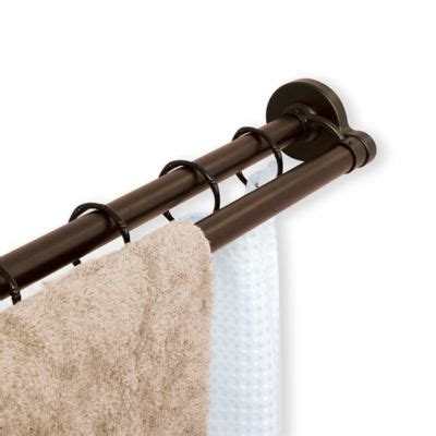 straight double shower curtain rod buy the gripper easy install adjustable curved shower rod