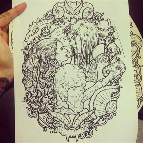 labyrinth tattoo labyrinth line drawing by lynntattoos designs interfaces