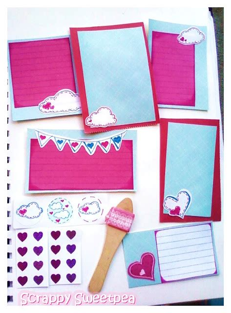 Sale Notebook Make Up Kit 4 By Make Up Pallette scrappy sweetpea clouds hearts compulsive doodling