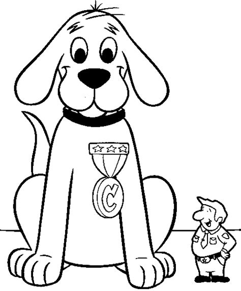 coloring pages big dogs clifford the big red dog coloring pages
