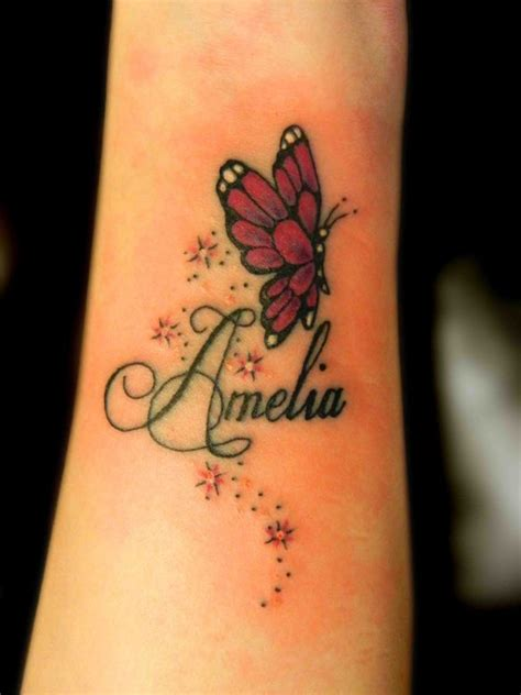 star tattoo designs with names butterfly wrist designs