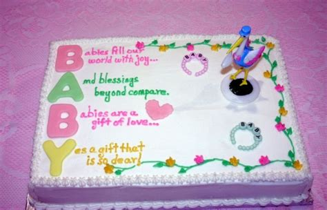 Baby Shower Cakes Wording by Gender Neutral Baby Shower Cake Sayings Cakes