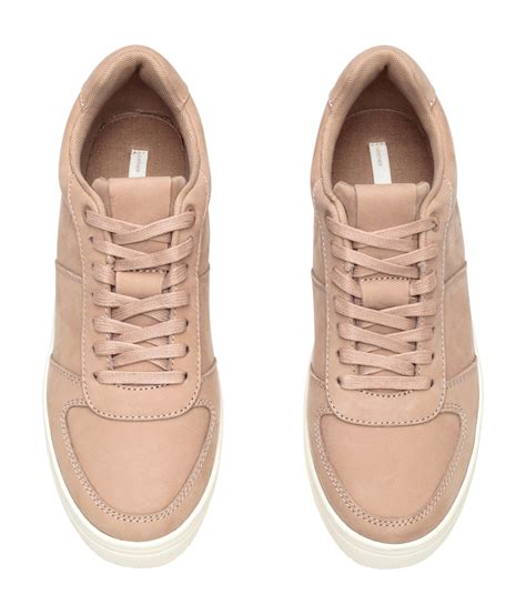 h m sneakers h m leather trainers in lyst