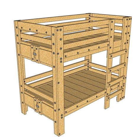 Sturdy Bunk Bed Plans 58 Best Images About Cool Ideas For Diy Beds On Mattress Rustic Bedding