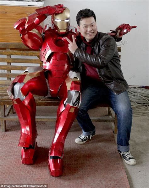 chinese engineer builds replica iron man suit