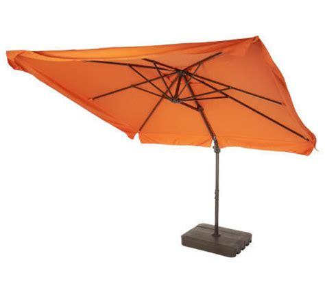Offset Patio Umbrella With Base Atleisure 8 5 Square Olefin Offset Patio Umbrella W Base Qvc