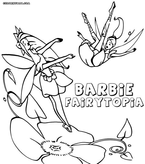 barbie fairytopia pages coloring pages