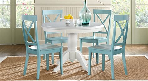Blue Kitchen Table Set Brynwood White 5 Pc Dining Set Dining Room Sets Colors