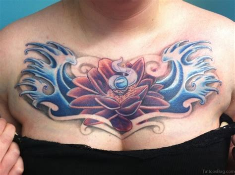 lotus tattoo on chest 50 beautiful lotus tattoos on chest