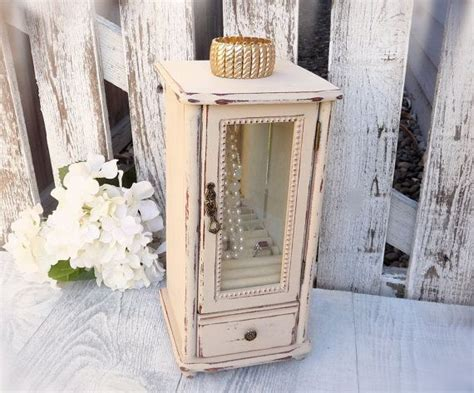 shabby chic jewelry cabinet 17 best ideas about white jewelry box on pinterest