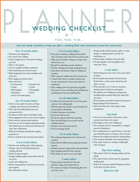 printable detailed wedding planning checklist 19 marriage separation agreement template detailed