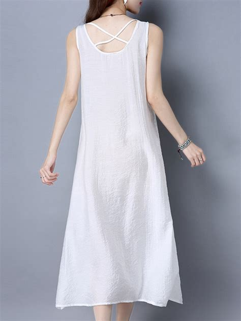 White Tank Dress Not See Through by Casual White See Through Sleeveless Tank Dress At