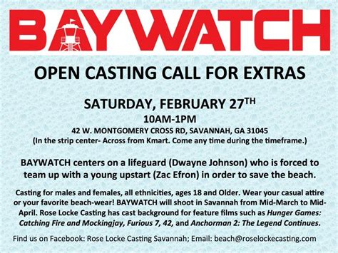 open casting film indonesia 2016 open casting call coming up for quot baywatch quot movie in ga