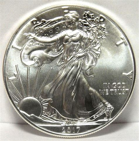 1 Oz Silver One Dollar - 2017 american eagle silver dollar uncirculated 1 oz