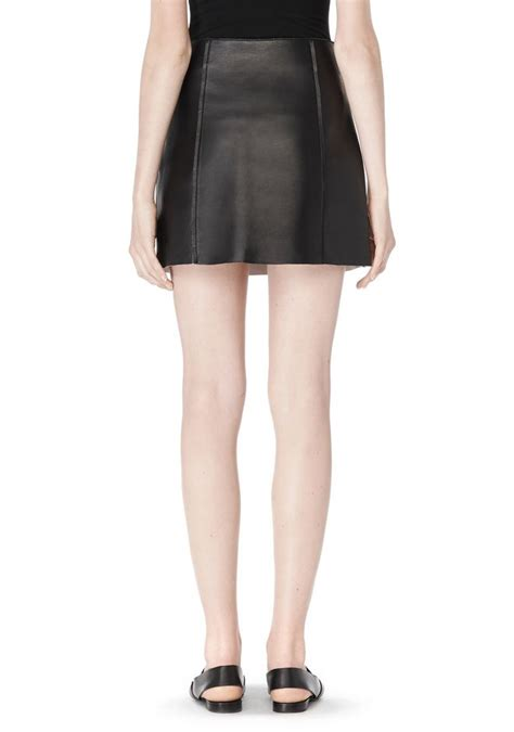 edge a line leather skirt skirt wang