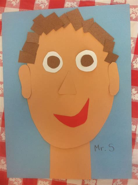 colored construction paper construction paper self portrait give each children
