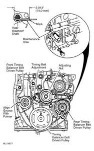 Honda Accord Timing Marks Timing Belt Procedure And Timing Marks For A 2 2l 96 Honda