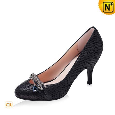 designer adornment chain leather pumps shoes cw304028