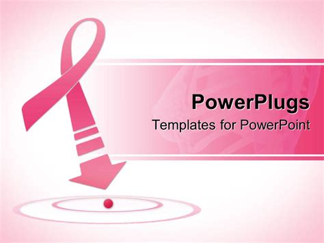 powerpoint template breast cancer awareness pink ribbon