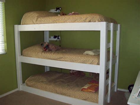 triple bunk beds space saving   spot  dust