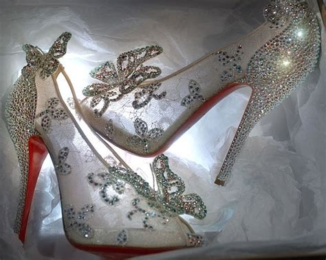 cinderella shoes christian louboutin s cinderella glass slippers revealed
