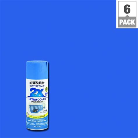 rust oleum painter s touch 2x 12 oz satin oasis blue general purpose spray paint 277991 the