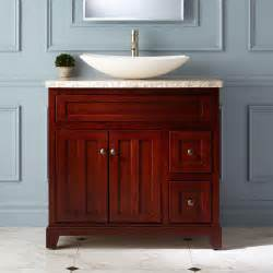 Cherry Bathroom Vanity 36 Quot Cordova Cherry Vessel Sink Vanity Bathroom