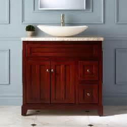 Home bathroom bathroom vanities 36 quot cordova cherry vessel sink