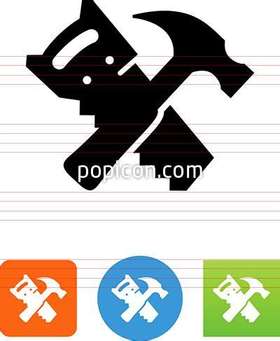 hammer and saw icon popicon