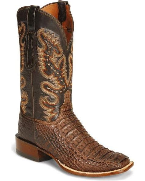 lucchese caiman square toe boots lucchese handcrafted waxy hornback caiman cowboy boots