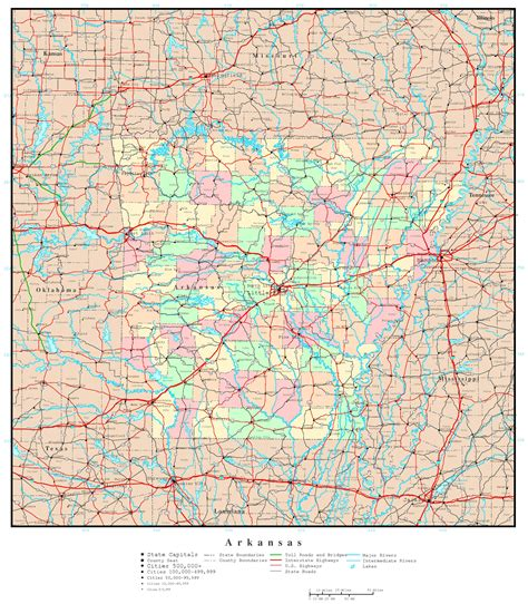 arkansas map with cities large detailed administrative map of arkansas state with