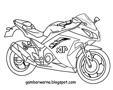 Gambar Untuk Motor by Mewarnai Motor Sport Belajar Mewarnai Gambar