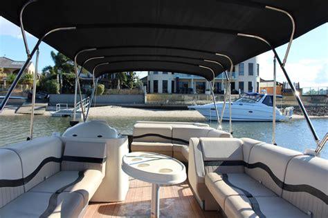 luxury pontoon party boats the interior of the luxury pontoon coastal ventures boat