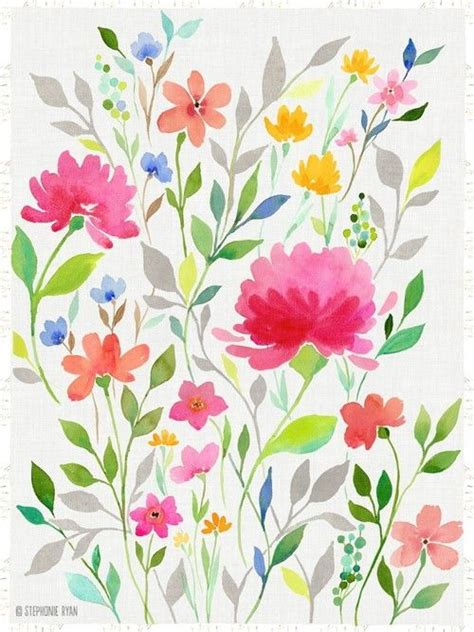 pretty painted floors with flower designs 19 creative watercolor painting ideas 6 pictures