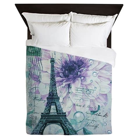 eiffel tower bedding on the hunt floral paris eiffel tower butterfly queen duvet by