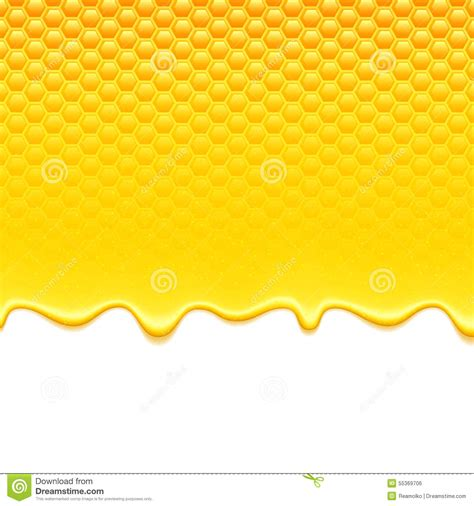 Ransel 3d Glossy Sweet Honey 1 yellow pattern with honeycomb and honey drips stock vector image 55369706